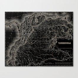 Venezuela Antique Map Canvas Print