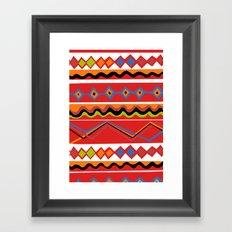 Coloured Mexican stripes Framed Art Print
