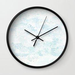 Watercolor water Wall Clock