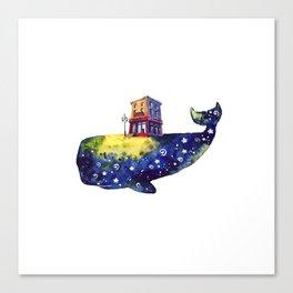 Cafe whale Canvas Print