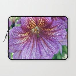 Purple Salpiglossis Floral Laptop Sleeve