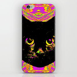 Purple Streak Quad Cat iPhone Skin