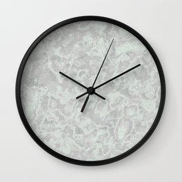 White Light Gray Silver Marble Texture Wall Clock