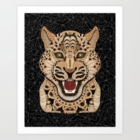 leopard Art Prints featuring Leopard by ArtLovePassion