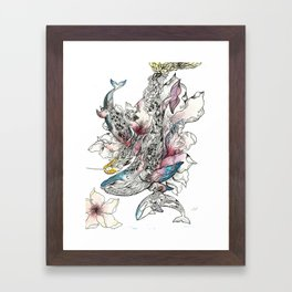 Trio Whales Framed Art Print
