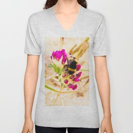 bumble been on a dune flower Unisex V-Neck