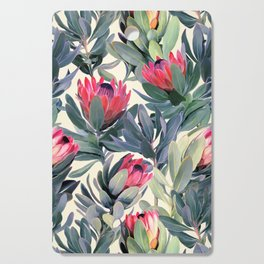 Painted Protea Pattern Cutting Board