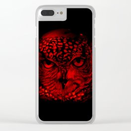 Red Owl Clear iPhone Case