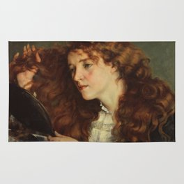 Gustave Courbet - Portrait of Jo, the Beautiful Irish Girl Rug