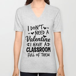 teacher Valentine's Day school pupil sweet gift Unisex V-Neck