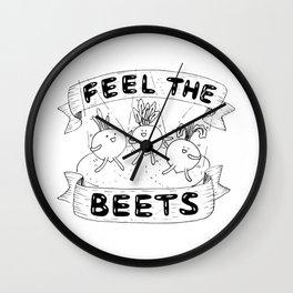 Feel The Beets Wall Clock