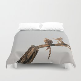 Hawk Eagle with its Catch Duvet Cover