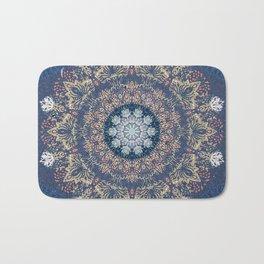 Blue's Golden Mandala Bath Mat