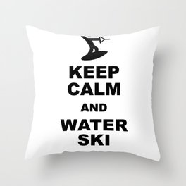 Waterskiing wakeboarding Throw Pillow