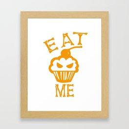 Eat me yellow version Framed Art Print