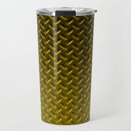 Dirty checkered gold plate Travel Mug