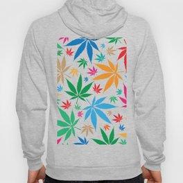 marijuana leaf color pattern Hoody