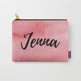 Red Watercolor Jenna Carry-All Pouch