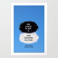 tfios Art Prints featuring TFIOS Quote #3 by Jerry Maestas