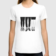 Love Triangle White MEDIUM Womens Fitted Tee