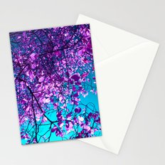 purple tree XXIX Stationery Cards