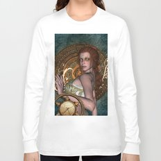 Steampunk, beautiful steampunk women Long Sleeve T-shirt