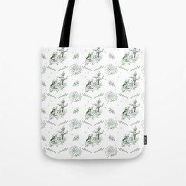 Slytherin Toile Tote Bag