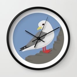 Red-legged Kittiwake Wall Clock