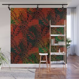 Abstract Leaf Arrangement (African Colors) Wall Mural