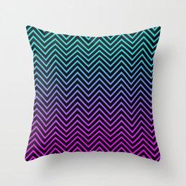 Rainbow Zigzag Throw Pillow