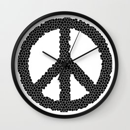 Ban The Bomb, Peace, Love, Protest Wall Clock
