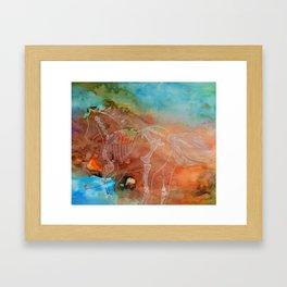 Run with the wind Framed Art Print