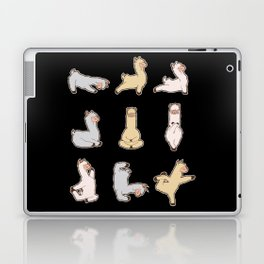Funny Alpaca Llama Yoga Shirt Costume No Prob I Really Like Llama Queen Gift Laptop & iPad Skin