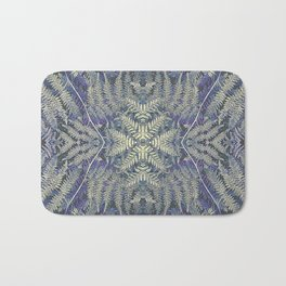 SYMMETRICAL PASTEL PURPLE BRACKEN FERN MANDALA Bath Mat