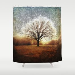 Winter Tree on Tooting Common Shower Curtain