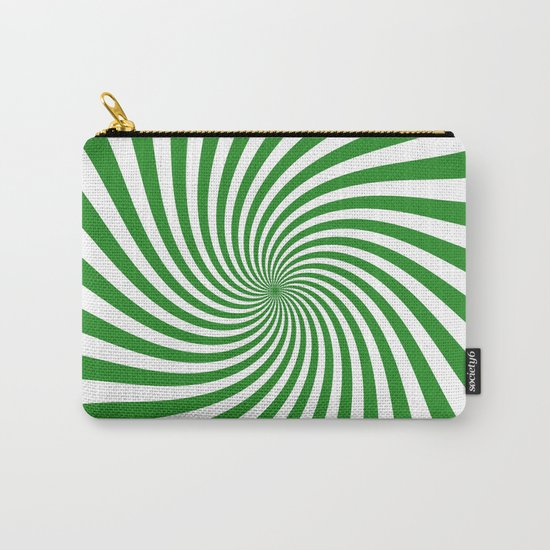 Swirl (Forest Green/White) Carry-All Pouch