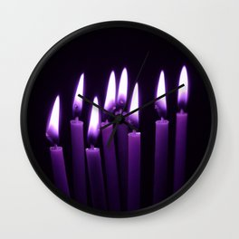 Candles in the wind V Wall Clock