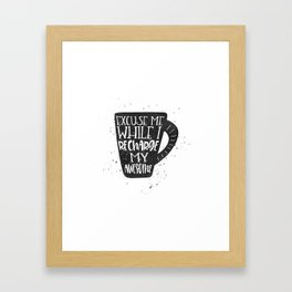 recharge awesome Framed Art Print