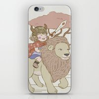 onward iPhone & iPod Skins featuring Onward Feline Steed! by PaperPanda Books