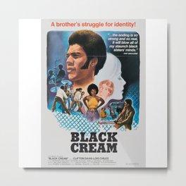 Black Cream - Vintage Film Metal Print