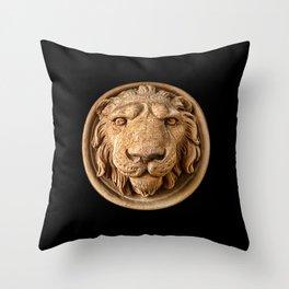 Lion Head Face Throw Pillow