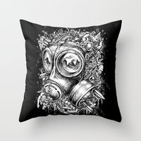 chaos Throw Pillows featuring Chaos by toto6