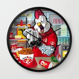CHICK N' RUN FAST FOOD Wall Clock
