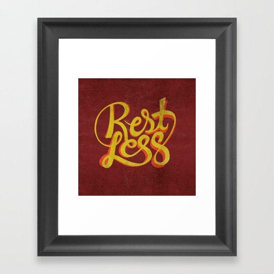 RestLess. Framed Art Print
