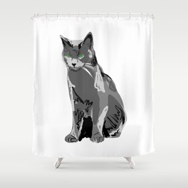 Russisch Blau Shower Curtain