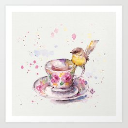 There is always time for tea Art Print
