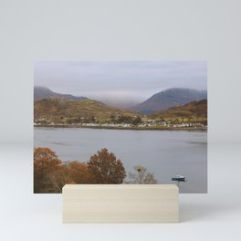 Village by the Loch Shieldaig, Scotland, UK   Nature Landscape Travel Photography   Wall Art Decor Mini Art Print