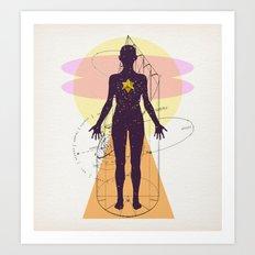 la femme cosmique Art Print
