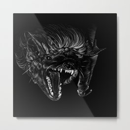 Brown Bat Metal Print