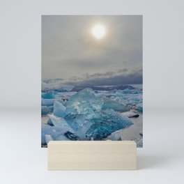 Blue Ice - Jökulsárlón Lagoon Mini Art Print